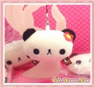 Kawaii RARE Unique Plush Panda Phone Strap w/ Dust Plug!