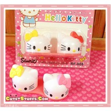 Kawaii Hello Kitty Capsule Contact Lens Case - Yellow & Red