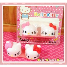 Kawaii Hello Kitty Capsule Contact Lens Case - Pink & Red